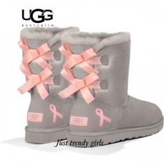 Light pink ugg boots with bows!   If the shoe fits!   Pinterest   Discount sites, Ugg boots sale and Uggs