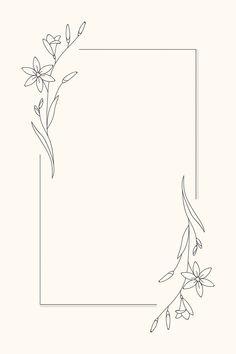 frames and borders Hand drawn flower frame background vector Bullet Journal Aesthetic, Bullet Journal Writing, Bullet Journal Ideas Pages, Bullet Journal Inspiration, Bullet Journal Goals, Bullet Journal Frames, Page Borders Design, Frame Border Design, Boarder Designs