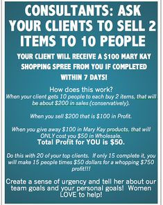 Michelle Cunningham, Mary Kay Sales Director | Sell 2 Items to 10