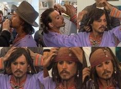 Becoming Captain Jack Sparrow