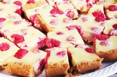Lemon-Raspberry Bars - Oh Sweet Basil