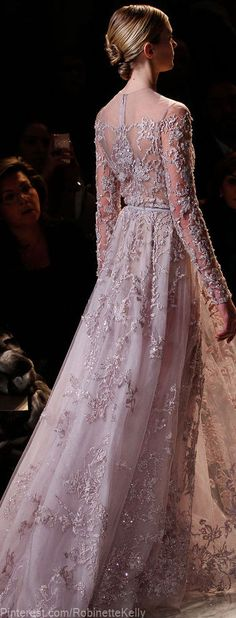 Elie Saab lace dress, S/S 2013 - Stunning!