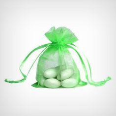 "Emerald Green Organza Bags ( 4"" x 6"")  -  10pc"