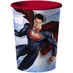 Superman Souvenir Cup (durable and reusable; includes one 16oz plastic cup in a pack)