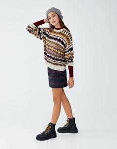 All over jacquard sweater - pull bear Pull   Bear c57c9f001166