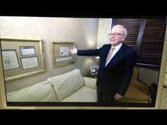Warren Buffett Shows Off His Dale Carnegie Certificate