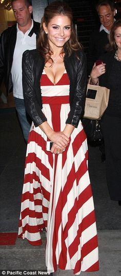 Maria Menounos in a Butter by Nadia - Love this look! Summer Outfits, Casual Outfits, Maria Menounos, Fade Styles, Striped Maxi Dresses, Mode Inspiration, Dress To Impress, Love Fashion, Celebrity Style