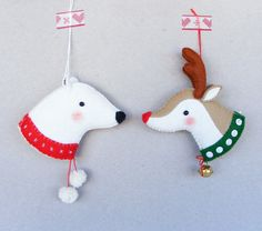 PDF pattern Reindeer and Polar bear Felt Christmas by iManuFatti