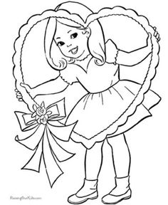 79 Best Valentine S Coloring Pages Images On Pinterest Coloring