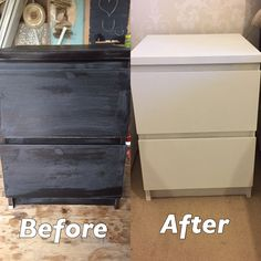 Product used: rust-oleum chalk paint - chalky white, rust-oleum finishing wax in clear!