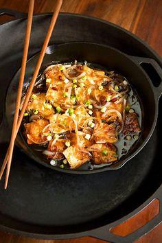 Caramel-Cooked Tofu #vegan #vegetarian