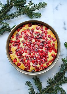cranberry lemon cake.