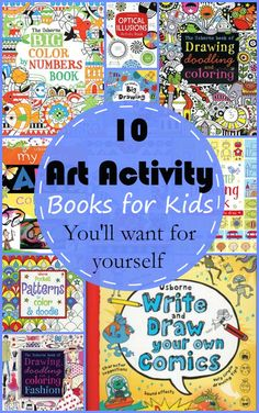 10 Art Activity Books for Kids, and adults love them too!