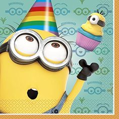 Despicable Me 2 Birthday Party Supplies - Luncheon Napkins Despicable Me Party, Minions Despicable Me, My Minion, Minion Banana, Funny Minion, Funny Jokes, 2 Birthday, Happy Birthday Minions, Birthday Cakes