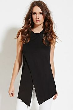 Asymmetric-Front Tunic | Forever 21 - 2000165141