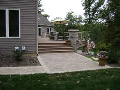 back patio leading to deck