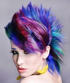 Colorful Spiked Hair