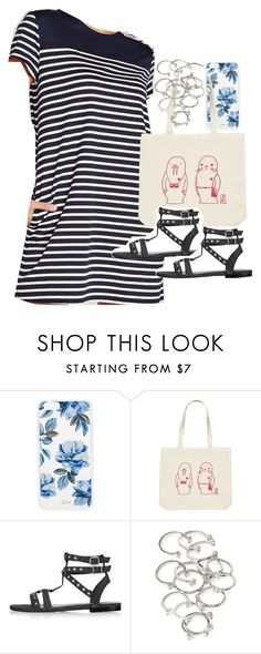 """""""Outfit with a striped dress for summer"""" by ferned ❤ liked on Polyvore featuring Sonix, Forever 21 and Topshop"""