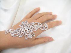 Diamante Applique rhinestone appliquecrystal bridal by LaceNTrim