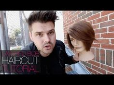 Taking A Graduated Bob To A Layered Bob Haircut Tutorial   MATT BECK VLOG 41516 - YouTube