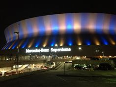Home of the NFL New Orleans Saints, Mercedes-Benz Superdome in New Orleans, LA