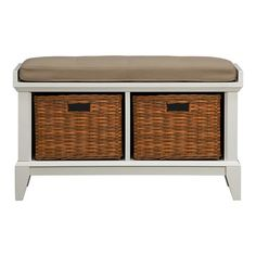 Paterson White Storage Bench in Entryway Benches | Crate and Barrel