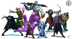 Finally, here are all of my pieces of the members of Vox Machina together! This was a super fun project to work on for the past few months! I might work on this for a bit and put it up as a print, I. Vox Machina, Aang, Dungeons And Dragons, Fun Projects, Videos, Illustration Art, Illustrations, Character Art, The Past