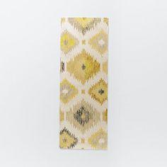 Blur Ikat Rug, 2.5'x7', Citron | West Elm
