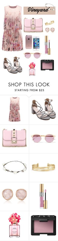 """""""Rose"""" by littlestyledoll ❤ liked on Polyvore featuring Alexis, Valentino, Sheriff&Cherry, Lipsy, Stella & Dot, Monica Vinader, Yves Saint Laurent, Marc Jacobs, NARS Cosmetics and napa"""