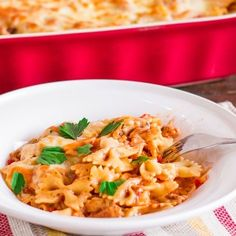 Cheesy Chicken Pasta Bake