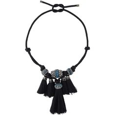 Lanvin tassel necklace (5,005 PEN) ❤ liked on Polyvore featuring jewelry, necklaces, black, black tassel necklace, kohl jewelry, lanvin, tassel jewelry et tassle necklace