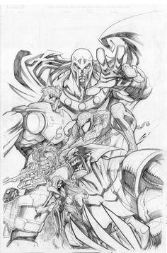 Marvel comics Art by Sandoval-Art on DeviantArt Marvel Comics Art, Anime Comics, Marvel Heroes, Comic Drawing, Cartoon Drawings, Cartoon Art, Comic Book Artists, Comic Artist, Comic Books Art