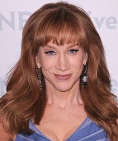 Kimberly guilfoyle anchoranalyst fox news friend and member kathy griffin long straight formal hairstyle with blunt cut bangs medium brunette auburn hair color pmusecretfo Image collections
