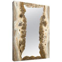 BRENDA HOUSTON DESIGNS Onyx Mirror Decorative Objects, Decorative Accessories, Baroque Fashion, Back To Nature, Organic Shapes, Natural Materials, Houston, Gemstones, Mirror