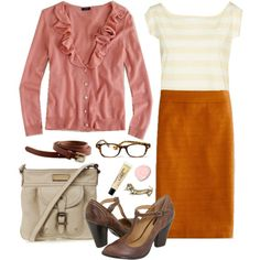 So cute for work! But I dont like the pink and orange combo