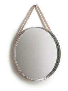 Ronde spiegel met een siliconen draagband