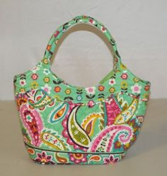 0294b14561 Vera Bradley Daisy Tutti Frutti Pattern Purse Tote NWT Retired May 2014