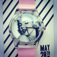 Yay my #May28th #watch came that I designed myself! #toohappy #yay #marilynmonroe #pink #strap #blackandwhite #love #her #beautiful #face #hands #babypink #revisionbreak #instadaily #instawatch #instamarilyn #picoftheday via @kirstagram_x