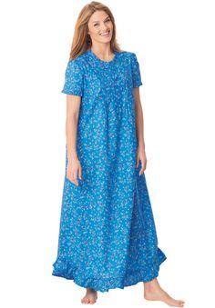 Plus Size Ruffled long nightgown Big And Tall Outfits, Plus Size Outfits, Night Gown Dress, Plus Size Sleepwear, Night Dress For Women, Winter Outfits Women, Diy Dress, Modest Fashion, Plus Size Women