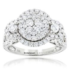 Halo-Solitaire-Cluster-Engagement-2-45Ct-Round-Diamond-925-Sterling-Silver-Ring