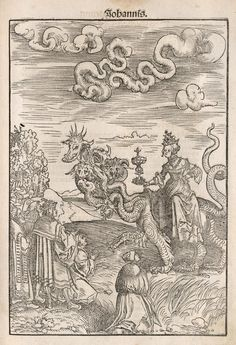 The Whore of Babylon illustration from Martin Luther's 1522 translation of the New Testament.  Workshop of Lucas Cranach. José Armando Flores Vázquez
