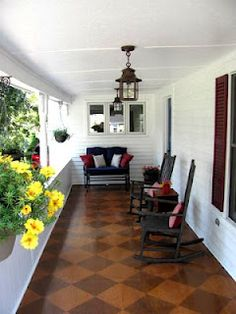 Front porch redo on a budget-- Before and After pics. A little New England charm for our 1860's farmhouse.