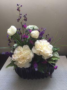 Cream & Purple Arrangement
