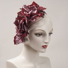 6252WY Whimsy, raspberry/dusty rose Millinery Hats, Dusty Rose, Raspberry, Sculpture, Statue, Chocolate, Green, Fascinators, Products