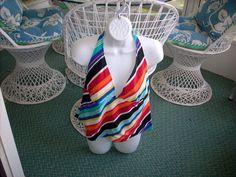 Swimsuit Faded Glory XL 16/18 Tankini Swimwear Rainbow Stripes Halter top #FadedGlory #TankiniTop