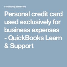 Pay business expenses personal credit card choice image card using personal credit card for business expenses quickbooks business expenses paid by personal credit card gallery reheart Image collections