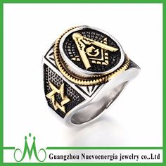 2017 Punk Style Stainless Steel Masonic Rings for Men Jewelry Vintage Classic Pattern Freemason Mens Ring