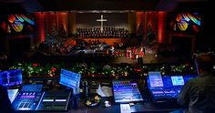 Aaron Shust Christmas Concert Stage Colorized With Chauvet Professional COLORado Fixtures
