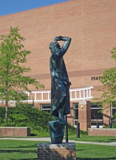 """The Poet: Lord Byron"" by Marshall M. Fredericks at Saginaw Valley State University in University Center near Saginaw, Michigan Sculpture Museum, Sculpture Garden, University Center, State University, Saginaw Valley, Saginaw Michigan, Birch Run, The Marshall, Lord Byron"