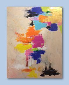 "Huachucan Summer, Original Abstract Acrylic Painting on Canvas, 10""x12"". via Etsy."